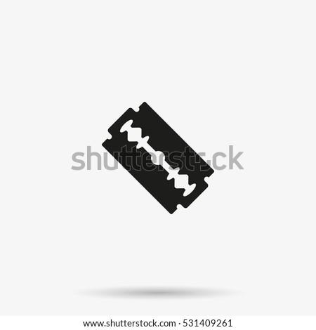 simple flat blade razor icon