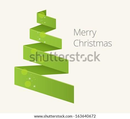simple flat christmas tree illustration for you design - Flat Christmas Tree