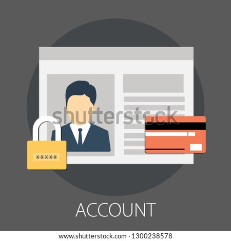 Simple flat design Online shopping concept, e-commerce marketing vector with icons and elements