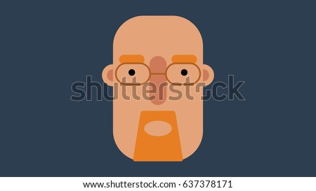Stock Photo Simple flat design vector face of Walter White from ''Breaking Bad''