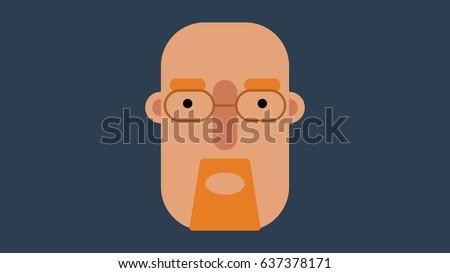 simple flat design vector face