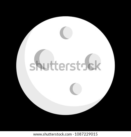 simple  flat full moon icon