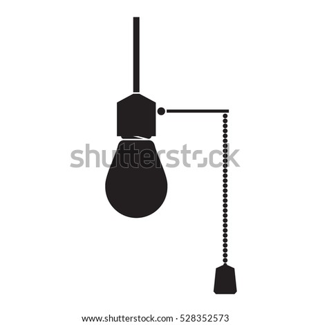 simple flat hanging bulb light