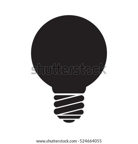 simple flat light bulb icon