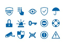 Simple Flat minimalist Security Icon Sets