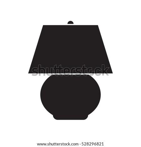 simple flat night lamp icon