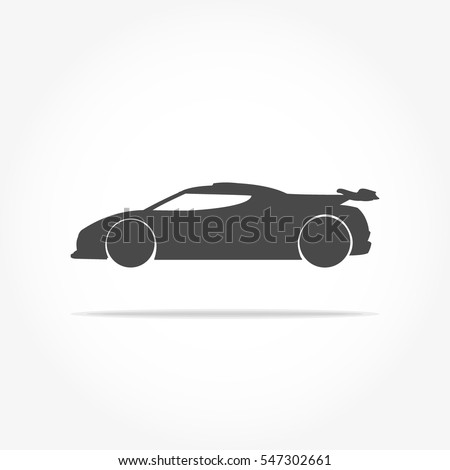 simple floating racing car icon