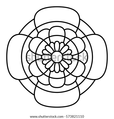 Vector Images Illustrations And Cliparts Simple Floral Mandala