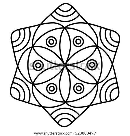 royalty free stock photos and images simple flower mandala pattern for coloring book pages. Black Bedroom Furniture Sets. Home Design Ideas