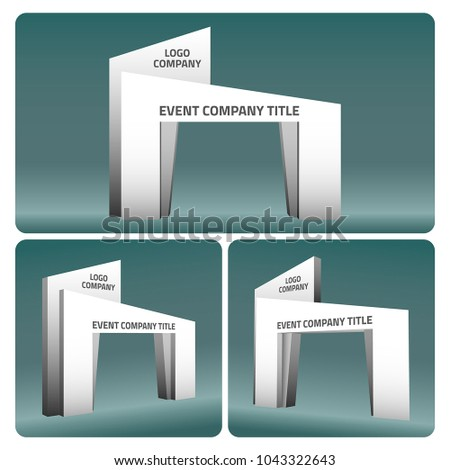 simple gate entrance abstract style vector editable