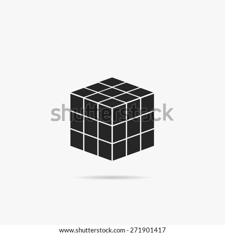 Simple geometric cube icon.