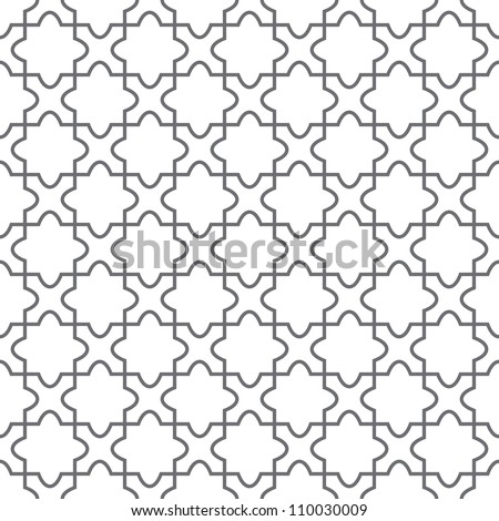 Simple geometric vector pattern - ornament on the floor