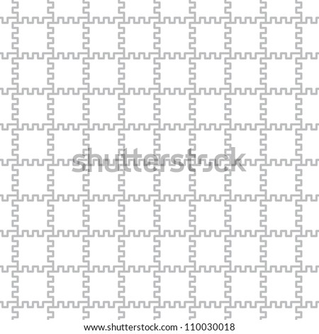 Simple geometric vector pattern - square elements with teeth