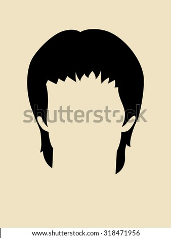 simple graphic of a hairstyle