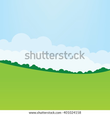simple grass  clouds and blue