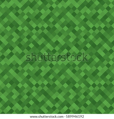Simple green squares seamless vector background.