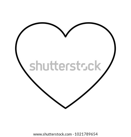 Simple heart icon