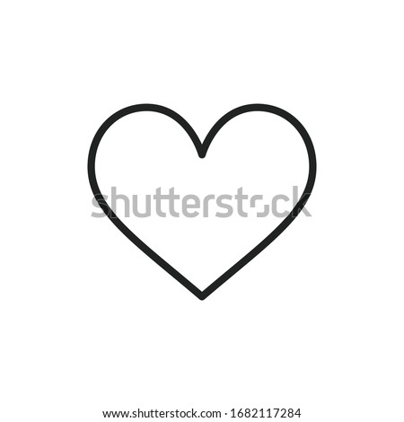 Simple heart line icon. Stroke pictogram. Vector illustration isolated on a white background. Premium quality symbol. Vector sign for mobile app and web sites. Foto d'archivio ©