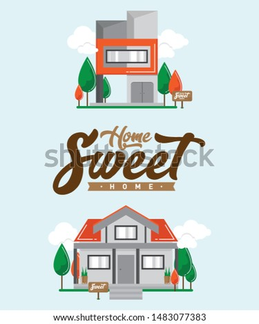 Simple home for simple life vector