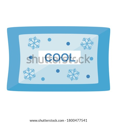 Simple ice pack with a flat design Stock photo ©