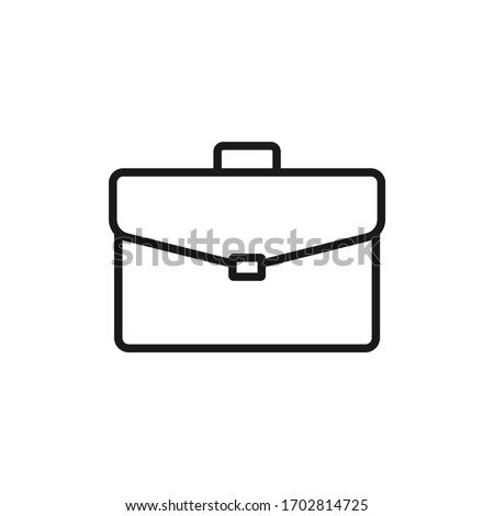 Simple icon of a briefcase vector illustration ストックフォト ©