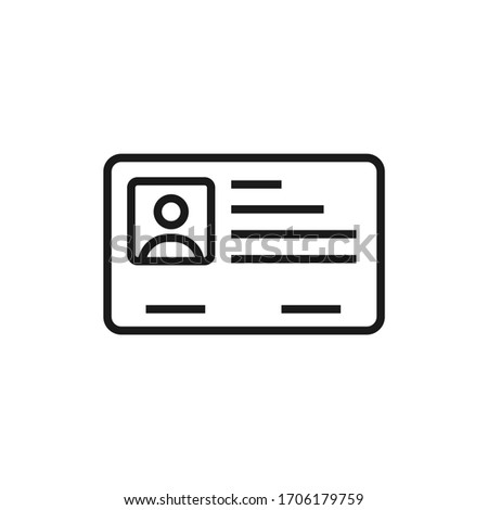 Simple icon of a id card with outline style design Stock fotó ©