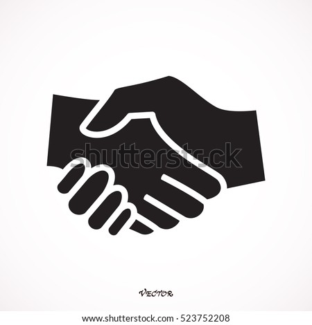 Simple icon of handshake sign.