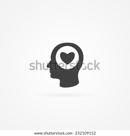 simple icon of heart symbol in