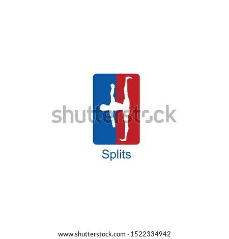 Simple icon of splits sport