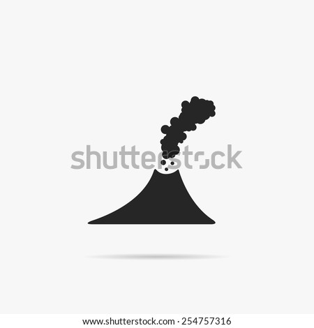 simple icon of the volcano