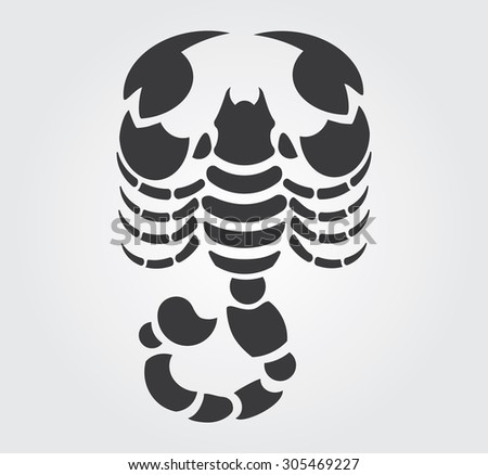 simple icon  scorpion