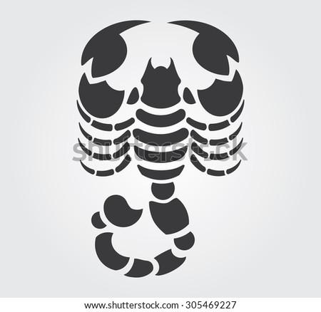 simple icon  scorpion