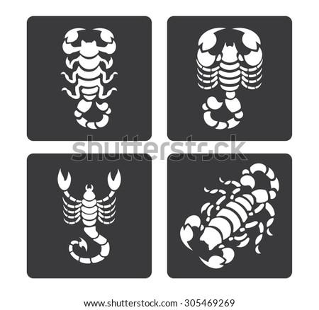 simple icon  scorpions