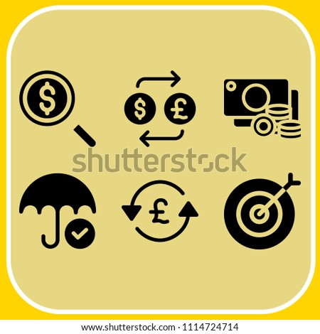 simple 6 icon set of business