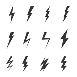 Simple icon storm or thunder and lightning strike isolated