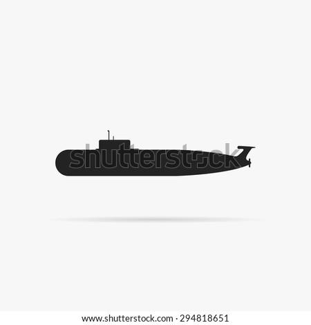 simple icon submarine