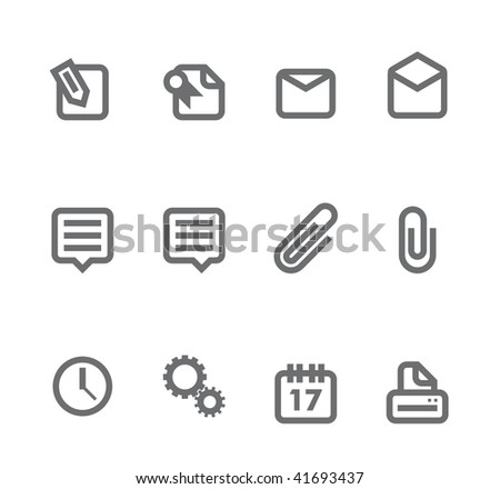 Simple icons isolated on white - Set 6 This set includes internet icons for websites, applications or presentations.