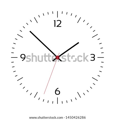simple illustration of clock