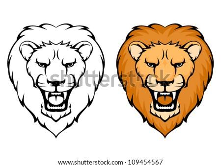 cartoon lion head download free vector art stock graphics images rh vecteezy com animated lion head cartoon lion head outline