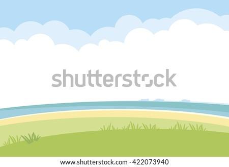 simple landscape vector