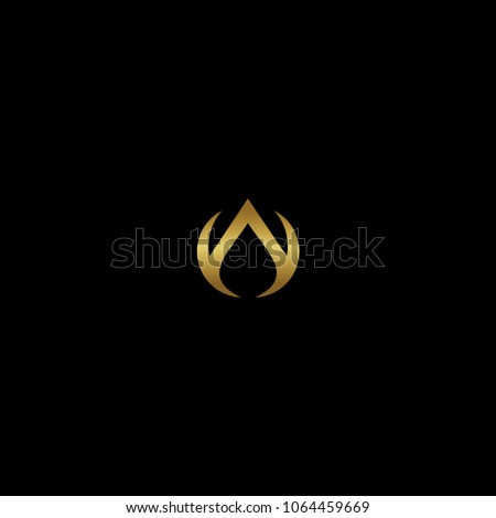simple letter a gold logo