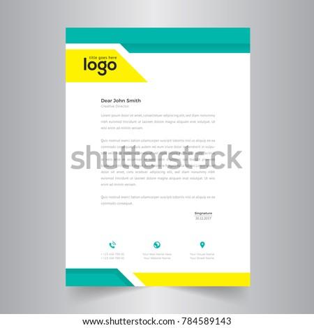 simple letterhead template design