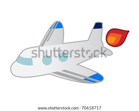 Simple line art airplane