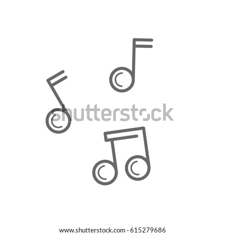 simple line music note icon or song icon