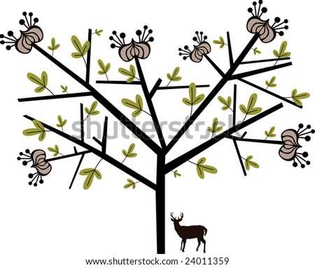 simple line tree graphic
