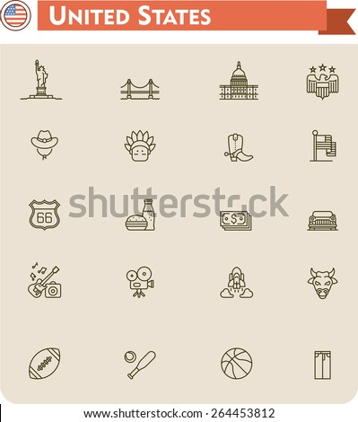 simple linear vector icon set