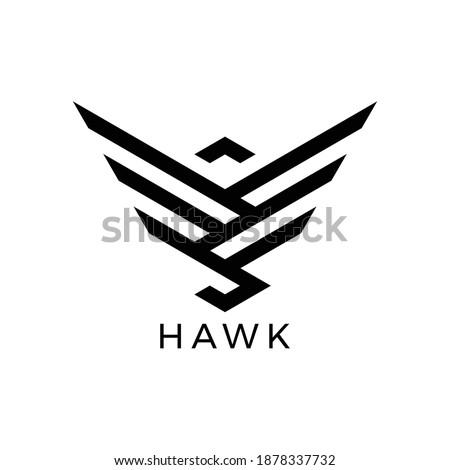 simple lines hawk logo vector Сток-фото ©