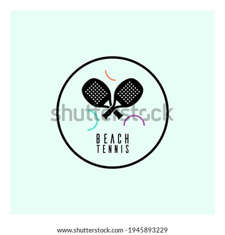 Simple logo template for beach tennis. Сток-фото ©