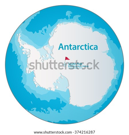 simple map of antarctica