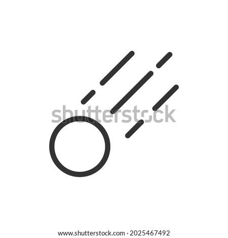 simple meteorite line icon